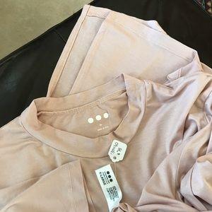 NWT 3 Dots Blush Rose Pink Top New